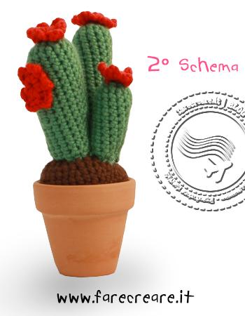 Amigurumi pianta grassa secondo schema