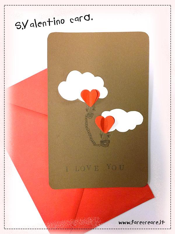 Biglietti San Valentino fai da te a mano.