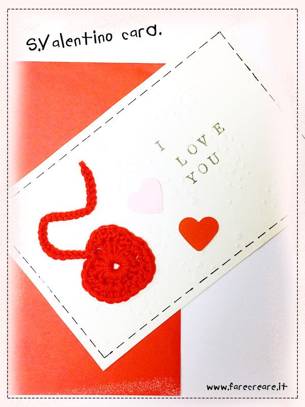 Biglietto di San Valentino fatto a mano.