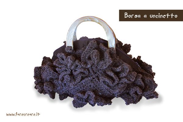 borsa a uncinetto lana