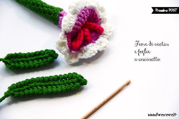 Fiore e foglie a uncinetto schemi e spiegazioni
