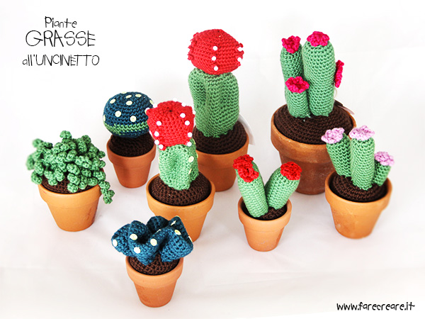 cactus all uncinetto free pattern per amigurumi pianta