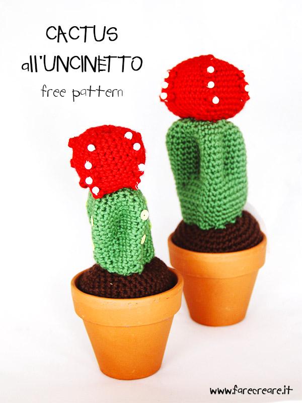 Piante Ad Uncinetto : Cactus all uncinetto free pattern per amigurumi pianta