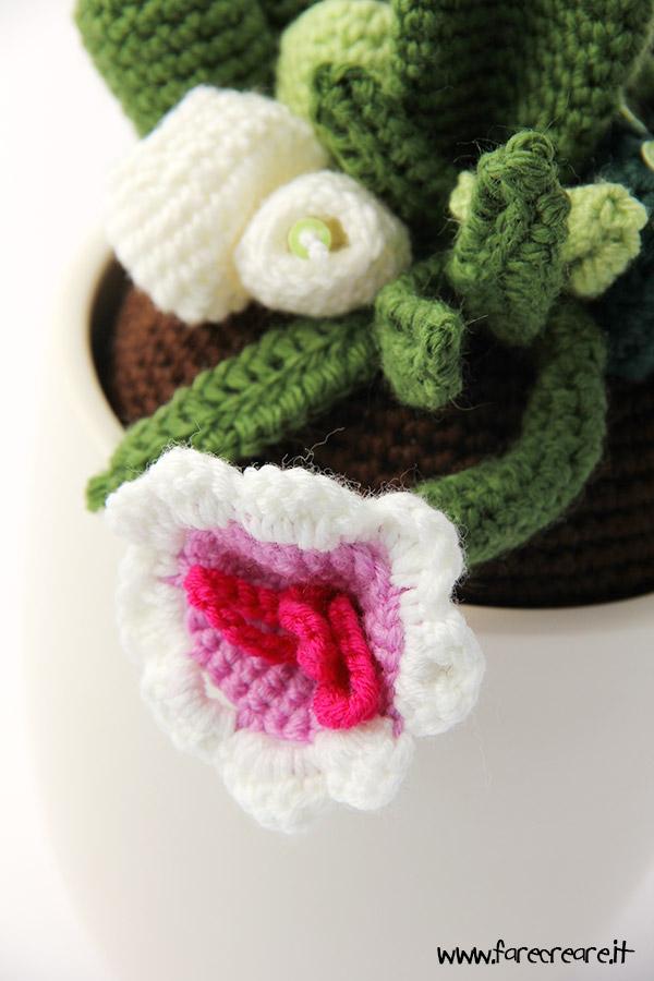 Come fare fiori e foglie all 39 uncinetto per piante grasse - Fiore collegare i punti ...