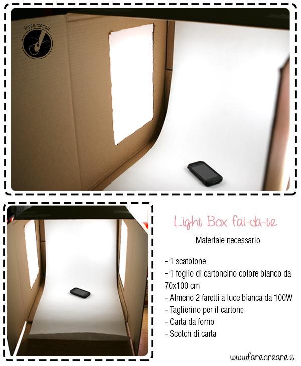 light-box per foto fai da te