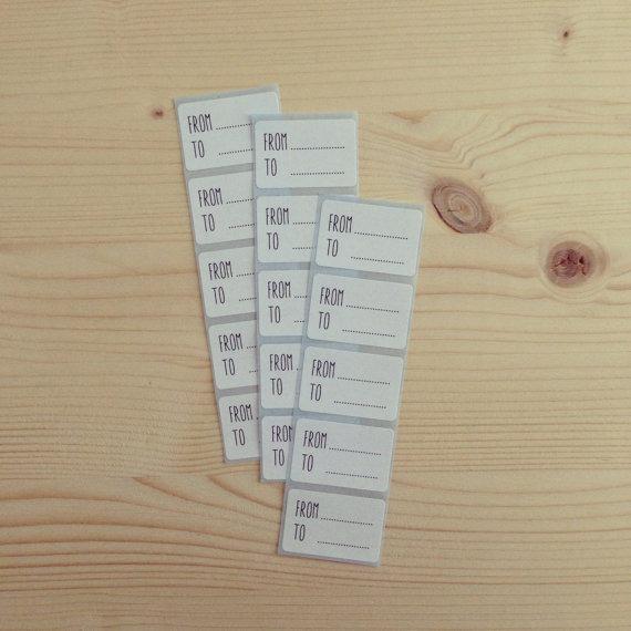 fare pacchi regalo originali tag handmade from-to