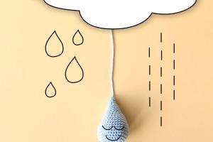 Piove: ecco la una goccia uncinetto, lo schema.