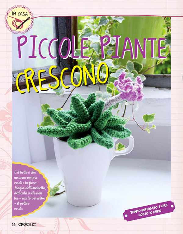 Schemi per piante grasse all'uncinetto su speciale Crochet