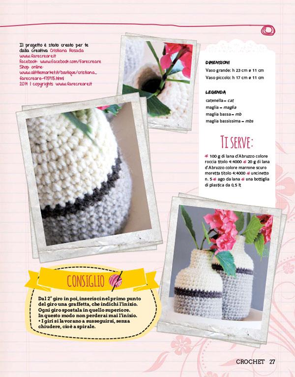 vasi di fiori uncinetto