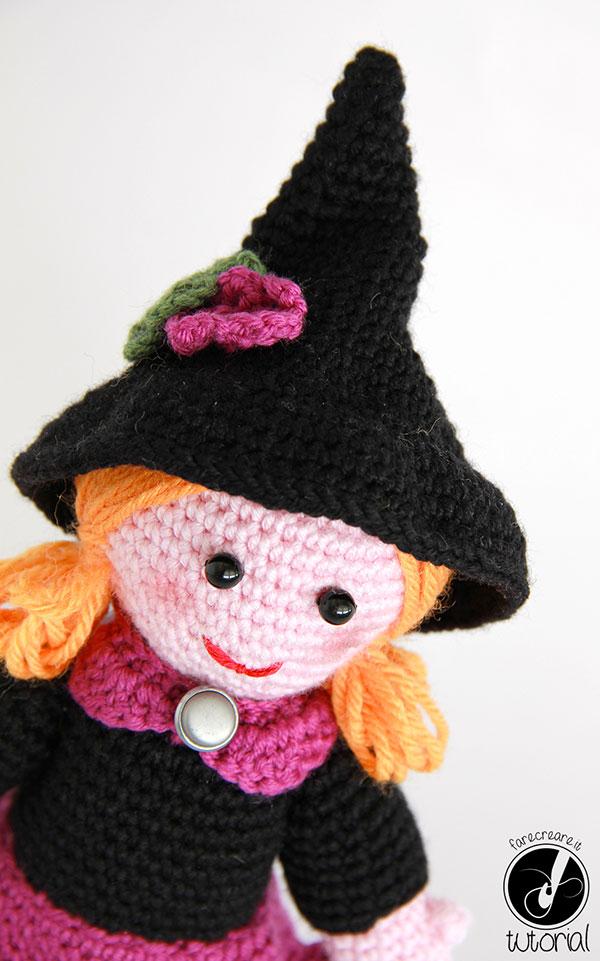 Amigurumi per Halloween: la Strega a uncinetto