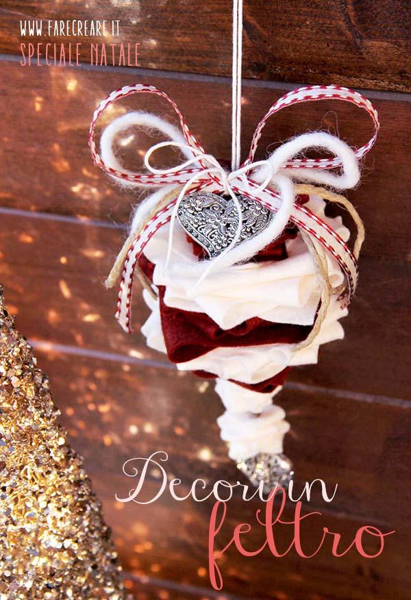Nuovi addobbi natalizi in pannolenci come si fanno - Addobbi natalizi per le finestre ...