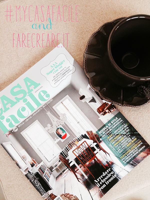Copertina del numero di gennaio 2015 della rivista Casa Facile.