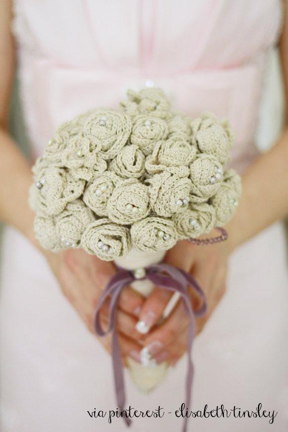 Bouquet Sposa Uncinetto Tutorial.Bouquet Da Sposa Fai Da Te Idee Per Il Matrimonio D Inverno