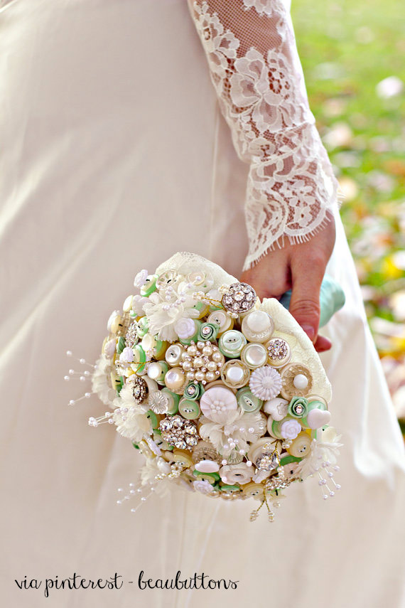 Bridal flower beaubuttons bouquet sposa fai da te.