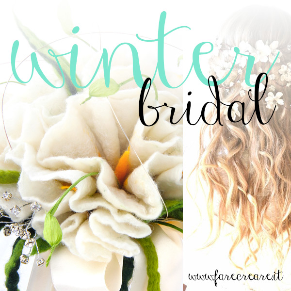 Winter bridal with handmade in felt.
