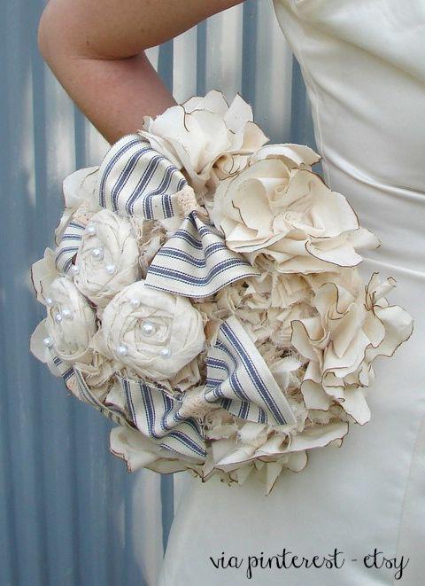 Su etsy fabric bouquet sposa fai da te con le stoffet,