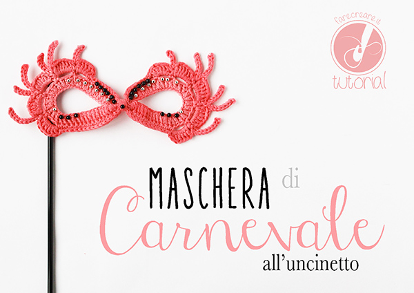 Come fare un maschera di carnevale a uncinetto in stile veneziano.