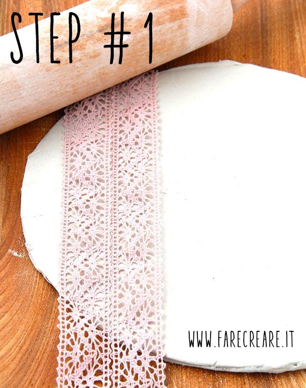Lavorare la pasta sintetica step 1.