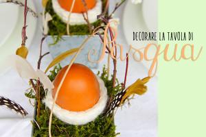 Immagine di come decorare la Tavola di Pasqua.
