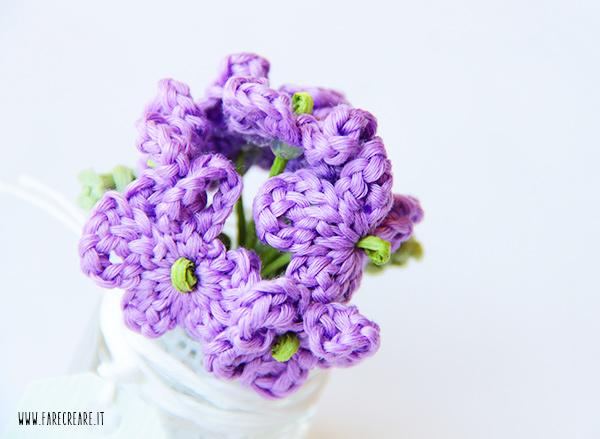Particolare della violetta a uncinetto - farecreare