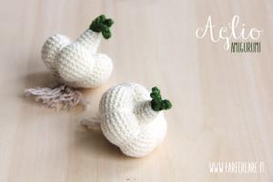 Scuola di amigurumi online: schema per aglio amigurumi.