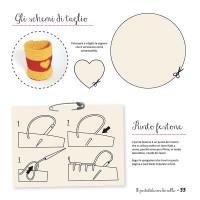 Libro amigurumi di farecreare: pagine interne esempio schemi di taglio.