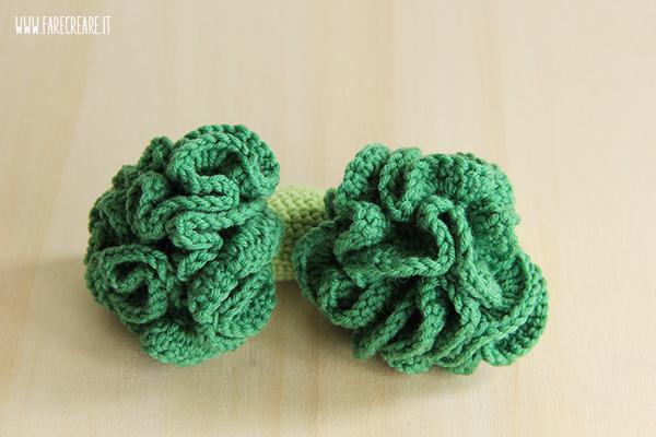 Scuola di amigurumi online: Pattern in Italiano Broccoli a uncinetto.