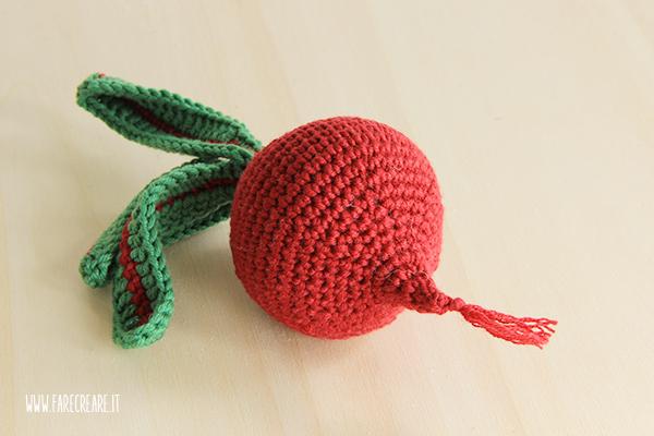 Una rapa a crochet.