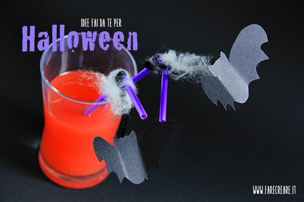 Pipistrelli appesi alle cannucce: Halloween tutorial.