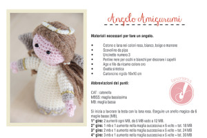 angelo amigurumi tutorial italiano.