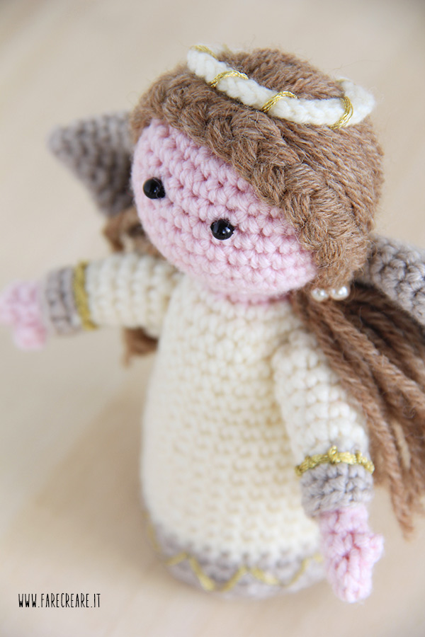 Amigurumi A Uncinetto : Angelo uncinetto come fare