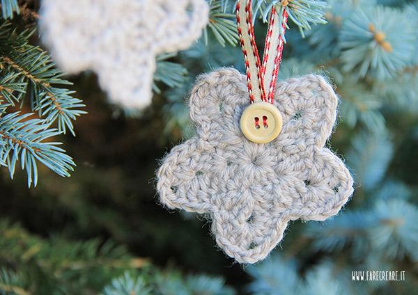 Addobbi Natale crochet stella.