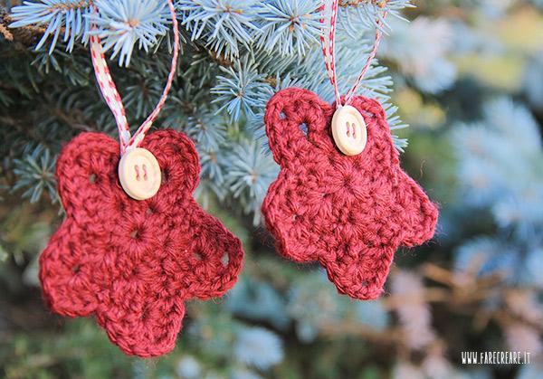 Addobbi Natale uncinetto rosso.