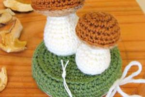 Funghi secchi crochet - www.farecreare.it
