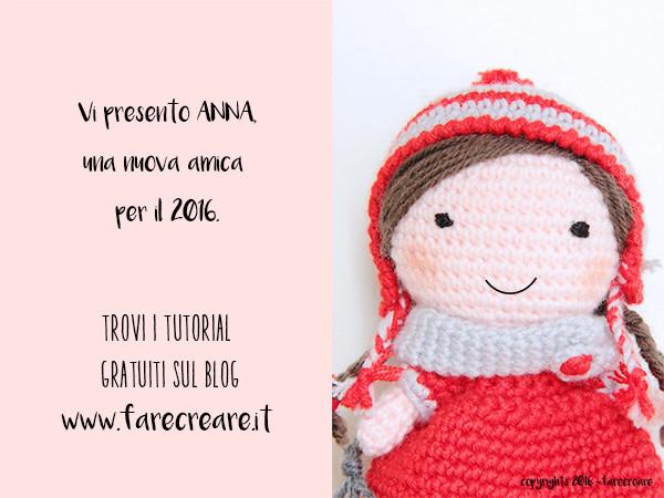 mini bambola amigurumi