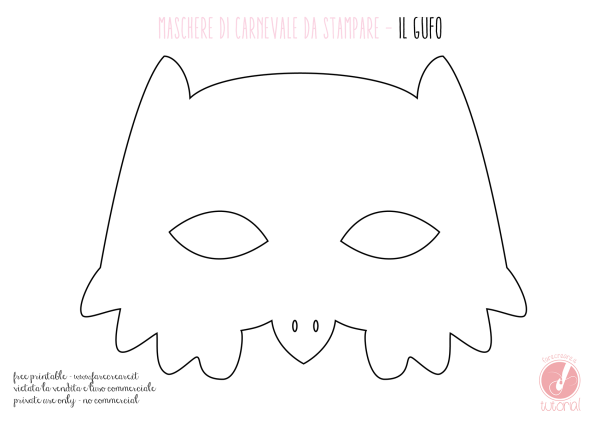 Maschera di Carnevale: il gufo