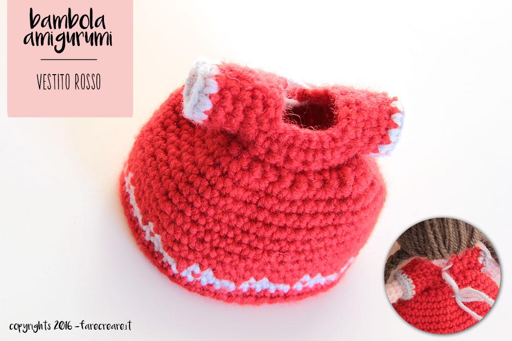 Secondo Schema Vestire La Crochet Doll Abito E Sciarpa