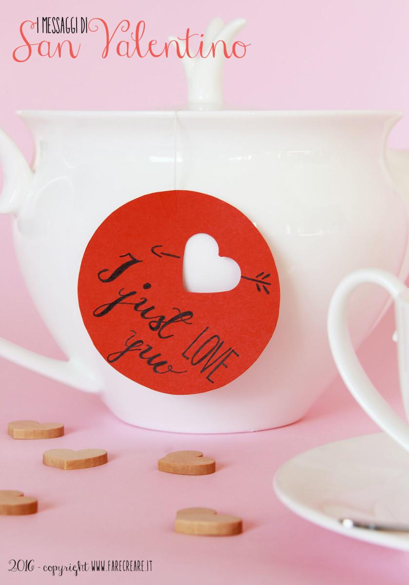 Bustina del the personalizzata per San Valentino.