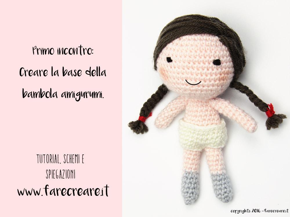 Primo Schema Creare La Bambola A Uncinetto Istruzioni Base