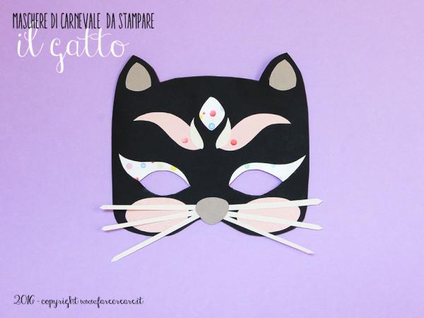 Maschera di carnevale: il gatto.