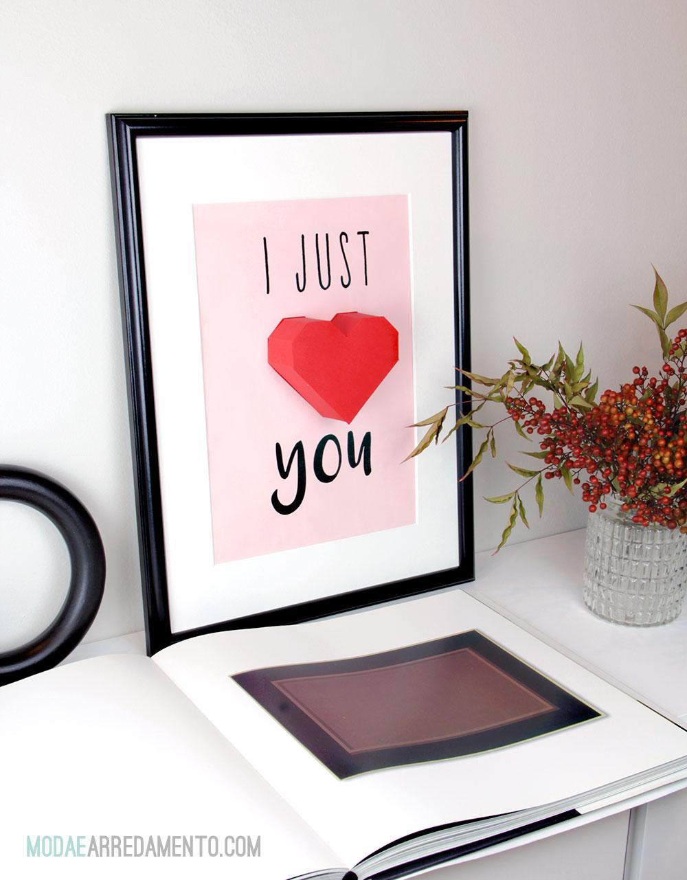 San Valentino tutorial con carta e cuore 3d.