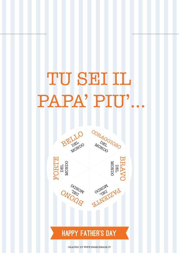 grafica festa del papà da stampare e completare.