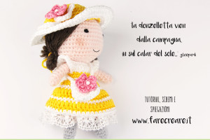 Anna bambola amigurumi vestito di primavera con schema gratis.
