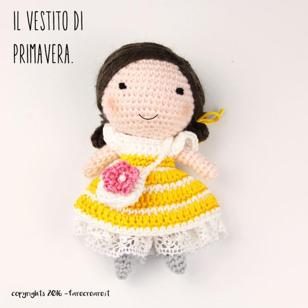 Bambola amigurumi, un nuovo vestito di primavera.