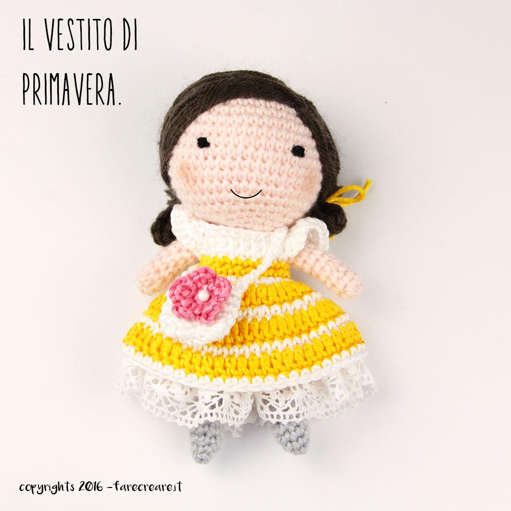 Il Vestito Di Primavera Per La Bambola Amigurumi Uncinetto