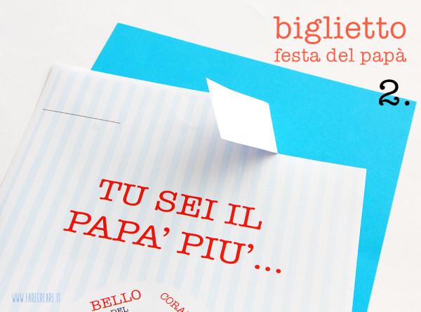 Biglietto festa del papà - passo 2.