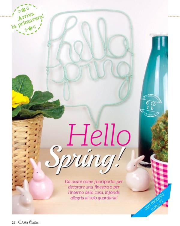 Scritta hello spring lana.