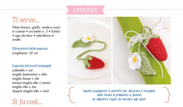 Fragola segnaposto crochet