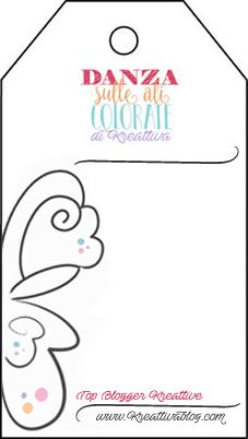 """Top Blogger Krative immagine iniziativa """"vola sulle ali della creatività""""."""