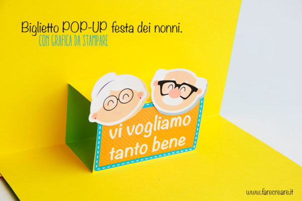 Biglietto pop up facile per i nonni.